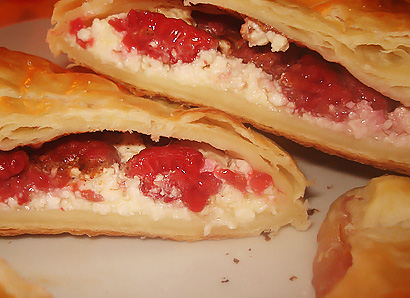 Raspberry and Cottage Cheese Turnovers
