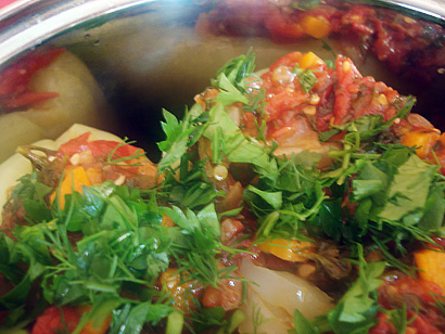 Stuffed Peppers with Parsley