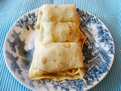 Russian Blini with filling