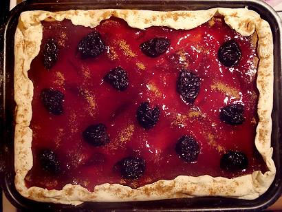 Plum Tart before baking