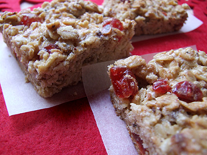 Dried Cherry Oatmeal Bars
