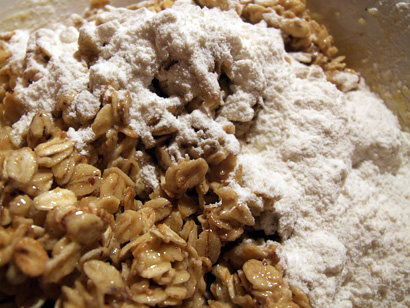 Toasted oats and flour