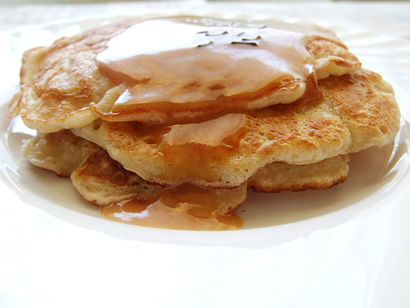 Apple Pancakes with Burnt Sugar Sauce