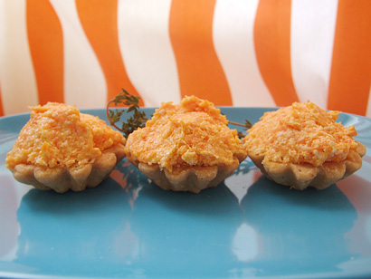 Carrot, Cheese and Garlic Tartlets