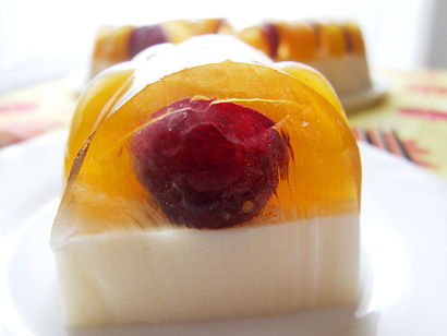 Mango Yogurt, Peach and Grape Jelly