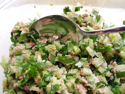 Celery, Parsley, and Walnut salad