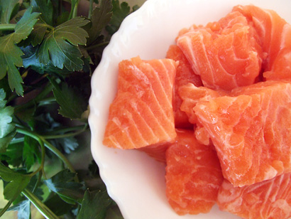 Pieces of Salmon fillet