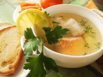 Salmon and Cod Ukha (Russian Fish Soup)