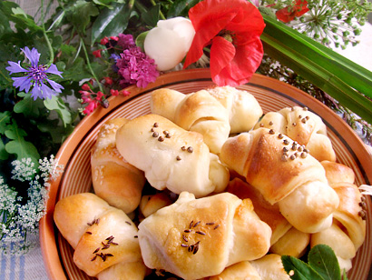 Slovak/Latvian Crescent Rolls for Midsummer