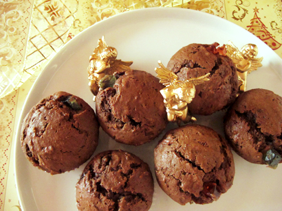 Chocolate Marmalade Candy Muffins