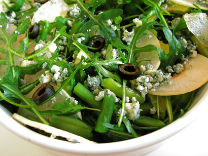 Green Bean Avocado Arugula Salad