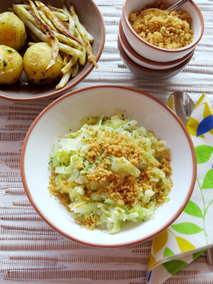 Cabbage with Egg and Breadcrumbs