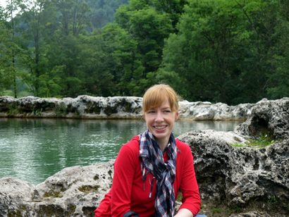 Me by Krater - a mini lake of mineral water in Eastern Slovakia