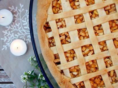 Apple Coconut Lattice Pie
